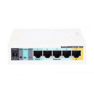 Mikrotik dostopna točka RB951UI-2HND - RB951Ui-2HnD je brezžični SOHO AP z novo generacijo procesorja Atheros in večjo procesorsko močjo.Ima pet vmesnikov
