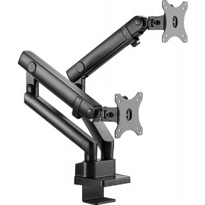 "IcyBox dvojni nosilec za monitor do diagonale 32'' z montažo na rob mize - Nosilec za dva monitorja do 32"" z montažo na rob mize.Ustvari prostor na namizju"