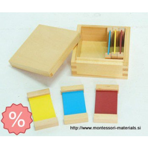 Color tablet 1 bass wood | Montessori materiali