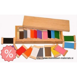 Color tablet  2  bass wood | Montessori materiali