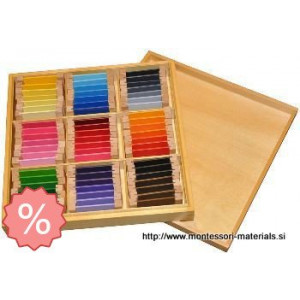 Color tablet 3  bass wood | Montessori materiali