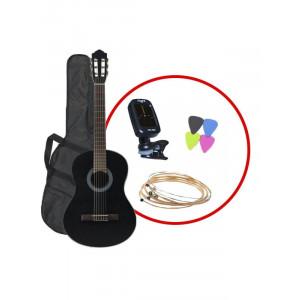 FLIGHT C 100 BK - set klasična kitara+pribor