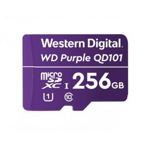 WD 256GB Purple microSD kartica Ultra - WD microSD kartice izdelane še posebej za videonadzorne kamere. Odlikuje jih izvrstna zanesljivost in