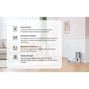 Roborock Onyx samopraznilna postaja za S7 bela - Samodejno zbiranje prahu:Spremenite praznjenje robotskega sesalnika iz ''pogosto'' v ''občasno''. Prah se po