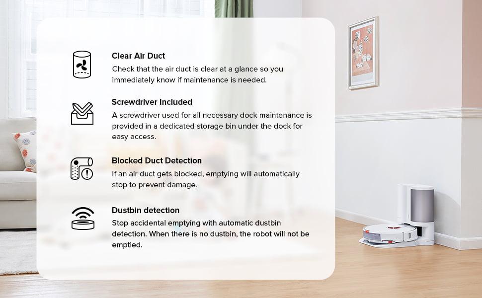 Roborock Onyx samopraznilna postaja za S7 črna - Samodejno zbiranje prahu:Spremenite praznjenje robotskega sesalnika iz ''pogosto'' v ''občasno''. Prah se po