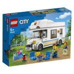 Na zabavne počitnice se odpelji v ikonskem LEGO® City počitniškem avtodomu. Zapelji na svoj najljubši kraj