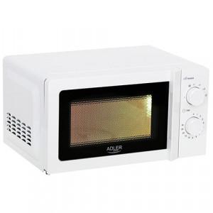 Adler mikrovalovna pečica 20L - Večnamenska mikrovalovna pečica s prostornino 20L je enostavna za uporabo. Je lično oblikovana in primerna za vsako